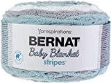 Spinrite 016126060009 Sea Glass Bernat Baby Blanket Stripes Yarn, Pink
