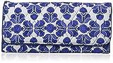 Vera Bradley Trifold Wallet, Cobalt Tile, One Size