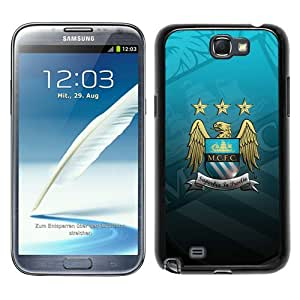Manchester City 6 Black Samsung Galaxy Note 2 N7100 Screen Phone Case Beautiful and Cool Design