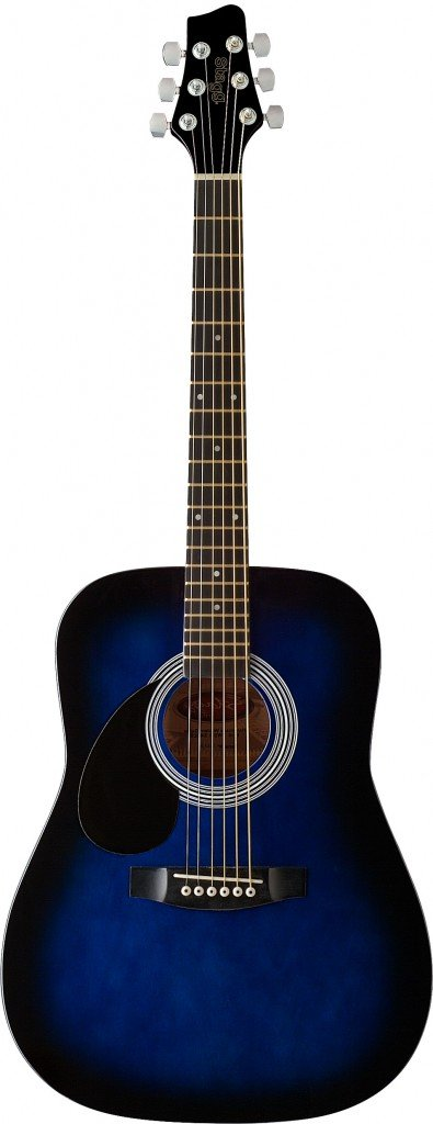 Starion ST-SW201 3/4 LH BLS Left Handed 3/4 Sized Dreadnought Acoustic Guitar - Blueburst