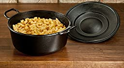 Lodge P10D3 Seasoned Cast Iron Dutch Oven, 4 quart