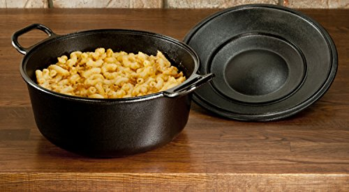Lodge Pro-Logic 4 Quart Cast Iron Dutch Oven. Pre-Seasoned Pot with Self-Basting Lid and Easy Grip Handles by Lodge (Image #4)