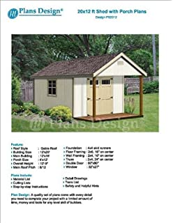 16' x 10' Cabin Loft Utility Shed with Porch Plans