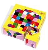 Vilac - Jouets en bois - Coffret 9 cubes Elmer