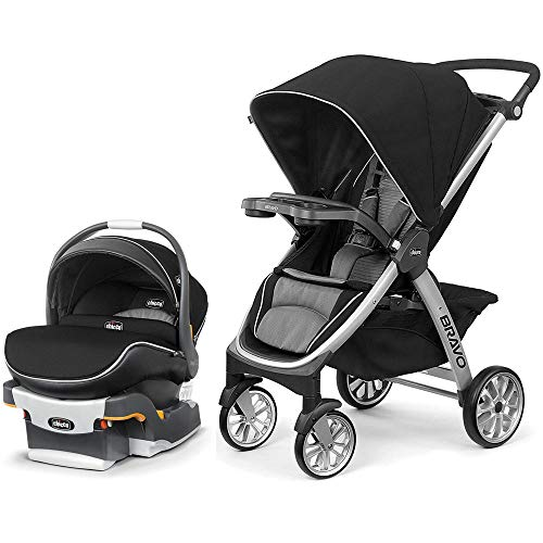 Chicco Bravo Air Quick-Fold Stroller and KeyFit 30 Zip Air Car Seat Travel System - Q Collection