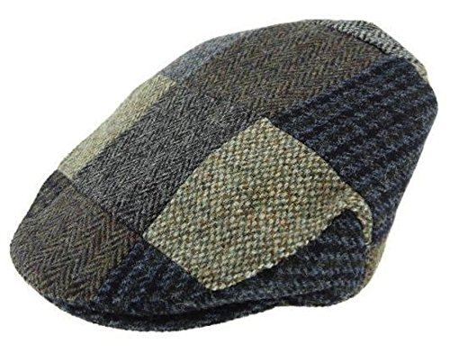 Childrens Checked Tweed Flat Cap - Made In Scotland by Glen Appin One Size (Checked Kilt)