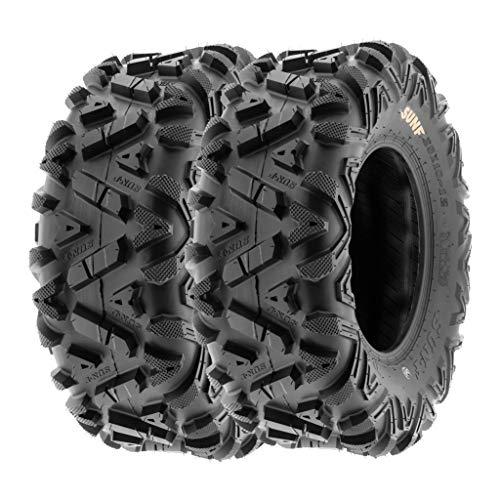 SunF 26x11-14 26x11x14 ATV UTV A/T Replacement Race 6 PR Tubeless Tires A033 POWER I, [Set of 2]