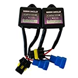 HID Kit Canceller Plugs Capacitors for Stability of HID Conversion Kits (Pack of 2)