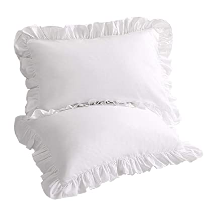 Amazoncom Sexytown Pillow Cases King Size Set Of 2 Cotton Ruffled