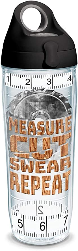 Tervis Measure Cut Swear Insulated Tumbler With Wrap And Lid 24 Oz Water Bottle Tritan Clear Tumblers Water Glasses
