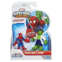Playskool Heroes Marvel Super Hero Adventures Spider-Man and Lizard Figures