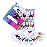 Artina 18 Set Watercolour Paints 12ml Tubes Non-Toxic for Beginners and Artists High Pigmented Colours - Painting Kit