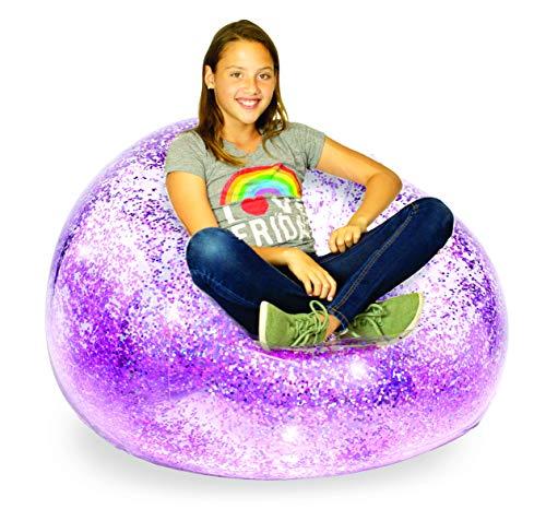 BloChair Kids Glitter Inflatable Chair (Pink)
