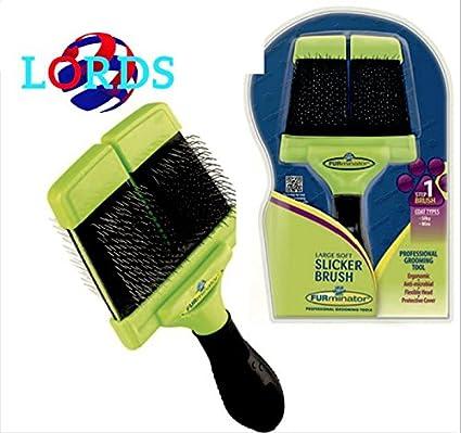 furminator Soft Slicker Brush grande: cepillo wollkämmers suave grande