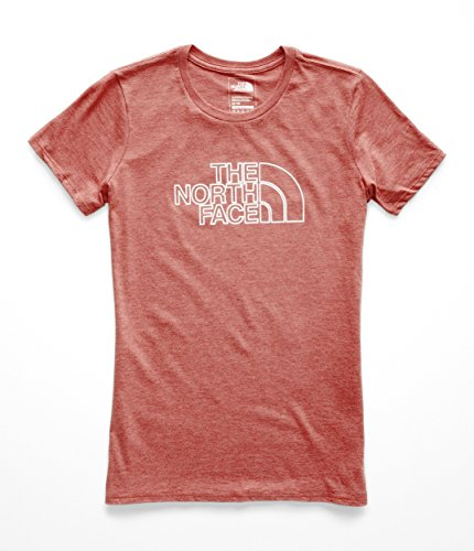 The North Face Women's 1/2 Dome Tri-Blend Crew Tee Faded Rose Heather/Silver Foil Small