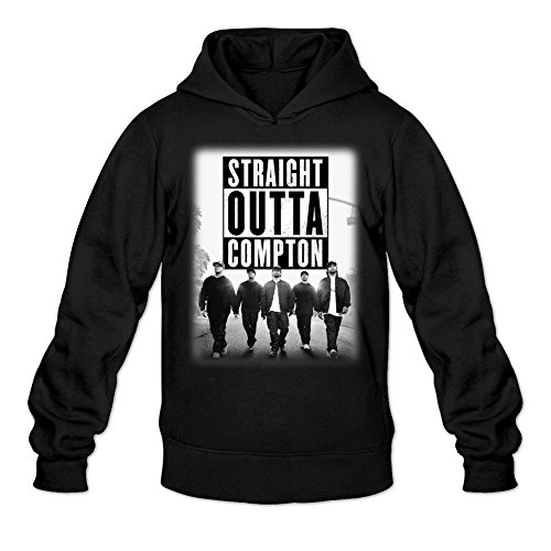 LSLEEVE Men's Straight Outta Compton Hoodie Black M]()