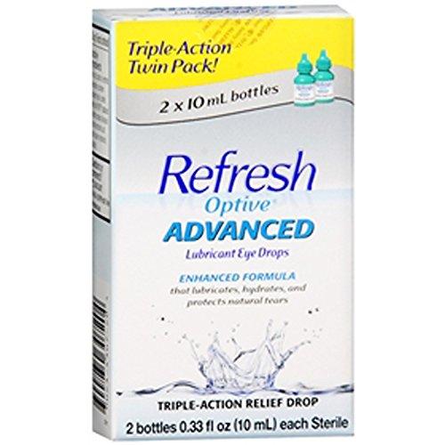 Actualiser gouttes oculaires lubrifiantes Optive avancée - 0,33 onces liquides double pack