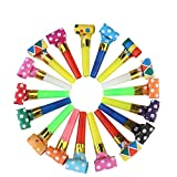 Koogel Party Whistles,100 Pcs Musical Blowouts, Birthday Party Favors, New Years Party Noisemakers,Party Blowouts Whistles, Party Blowouts, Fun Party Favors(Multicolor)