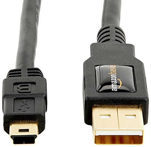 AmazonBasics USB 2.0 Cable - A-Male to Mini-B Cord - 6 Feet (1.8 Meters)