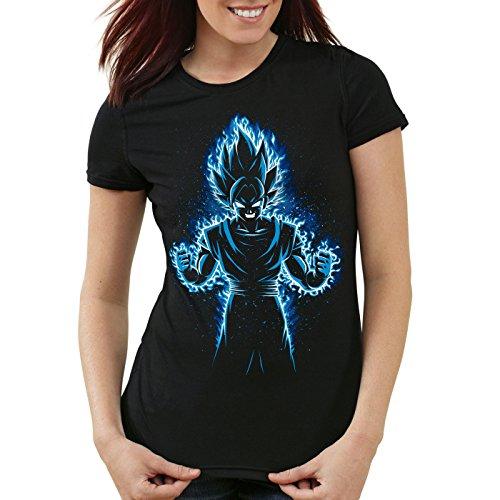style3 Songoku Max Power T-Shirt da donna turtle ball z roshi dragon