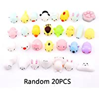 Auveach 20PCS Random Squishy Soft Toys Slow Rising Simulation Cute Animal Decompression Toys