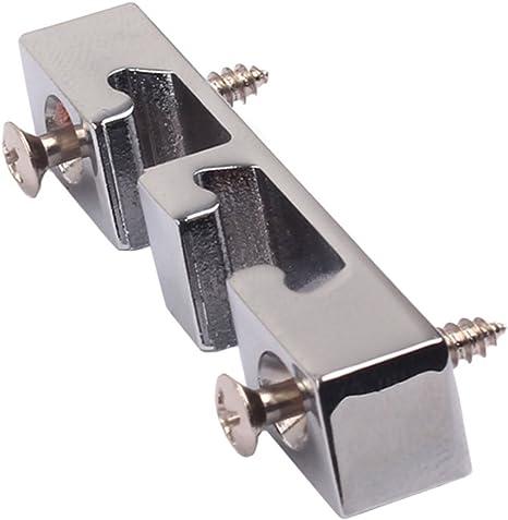 2 Chrome Roller String Retainer Trees Gitarrenteile für E Gitarre oder Bass