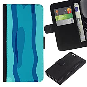 YiPhone /// Tirón de la caja Cartera de cuero con ranuras para tarjetas - Nadar en día azul - Apple Iphone 6 PLUS 5.5