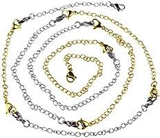 Set 4 Different Le 7L8 8 Piece Stainless Steel Necklace Bracelet Extender Chain