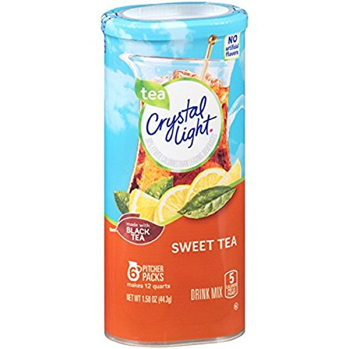 Crystal Light Sweet Tea Drink Mix (12 quart=6 packets) NEW FLAVOR (Pack of 4)