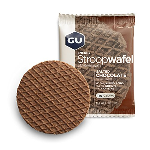 GU Energy Labs Stroopwafel Organic Sports Nutrition Waffle, Salted Chocolate, 16 Count