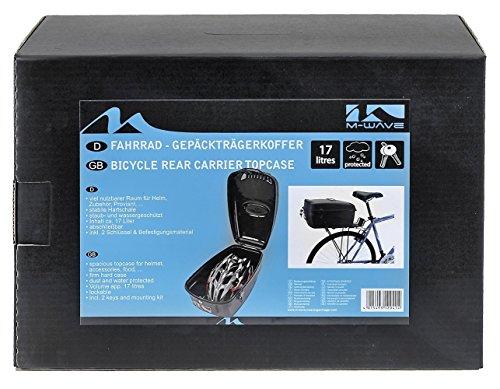 M-Wave Fahrradkoffer, schwarz, 17 l