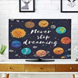 Leighhome Television Protector Planets and Star Cluster Solar System and Comets Sun Cosmos Television Protector W35 x H55 INCH/TV 60''