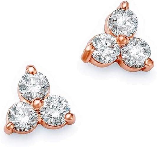 Minimalist Studs 14K Trio Trinity Stud 14K Tiny Studs Earrings Diamond Studs 14K Gold Black Diamond Triangle Stud Triangle Cluster Stud
