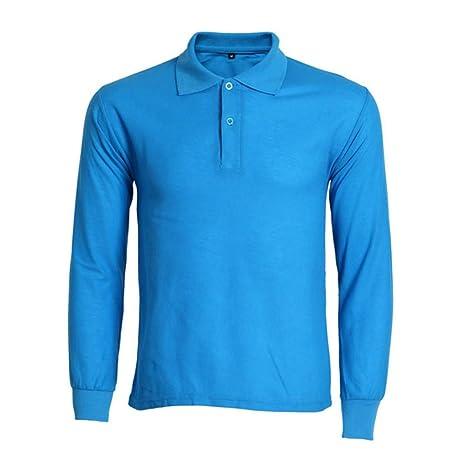 NISHIPANGZI Hombres Camiseta Polo Mens Moda Polo de Manga Larga de ...