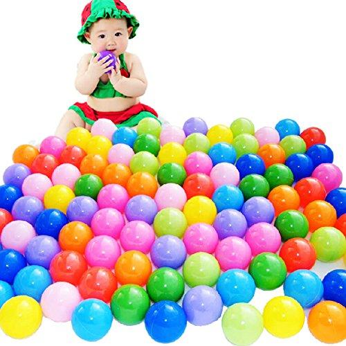 Coscelia 50pcs Balles Colorées de Piscine Balles de Jeux Jouet Enfant