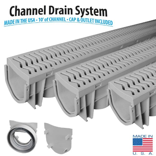 Source 1 Drainage 3-Pack Trench & Driveway Channel Drain System With (Drainage System)