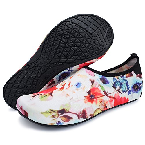 Lightweight Swim Barefoot Water FEETCITY Mens Yoga Flowers for Shoes Aqua Shoes Beach Womens qEFwXnXI