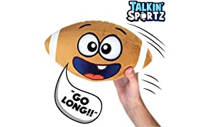 Move2Play Talkin' Sports, Hilariously Interactive Toy Football with Music & Sound FX, Toy for 3+ Year Old Boys