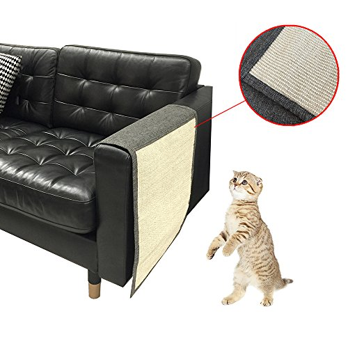KECUCO Cat Scratching Mat Pet Scratch Protector Cat Scratch Mat Sofa Shield, Cat Scratching Pad - Love Your Cat and Protect Your Sofa Couch - Linen Flush Shade
