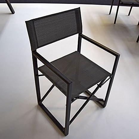 Juego de 2 sillas director de escena aluminio antracita ...