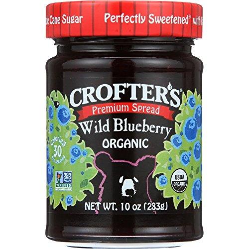Crofters, Fruit Spread Wild Blueberry Organic, 10 Ounce