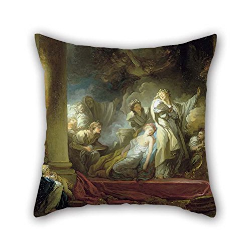 16 X 16 Inches / 40 by 40 cm Oil Painting Jean-Honor?? Fragonard - El Sacrificio De Caliroe Pillow Covers Both Sides Ornament and Gift to Dance Room Gril Friend Dining Room Gf Divan Car ()