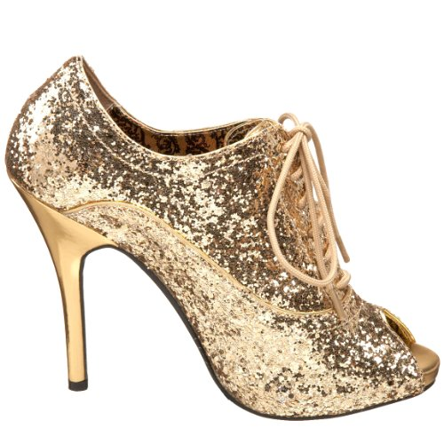 Bordello Ankle Boots Wink-01G gold 36