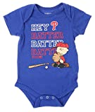 MLB Philadelphia Phillies Baby Boys Infants Peanuts Love Baseball Creeper, Blue