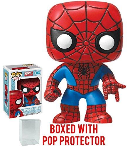 Funko Pop! Marvel: Spider-Man #3 Vinyl Figure (Bundled with Pop BOX PROTECTOR CASE)