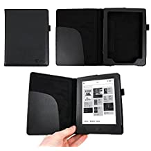 Kobo Aura H20 eReader Case - Deluxe Book-Style Cover in Black for the Kobo Aura H20 - by DURAGADGET