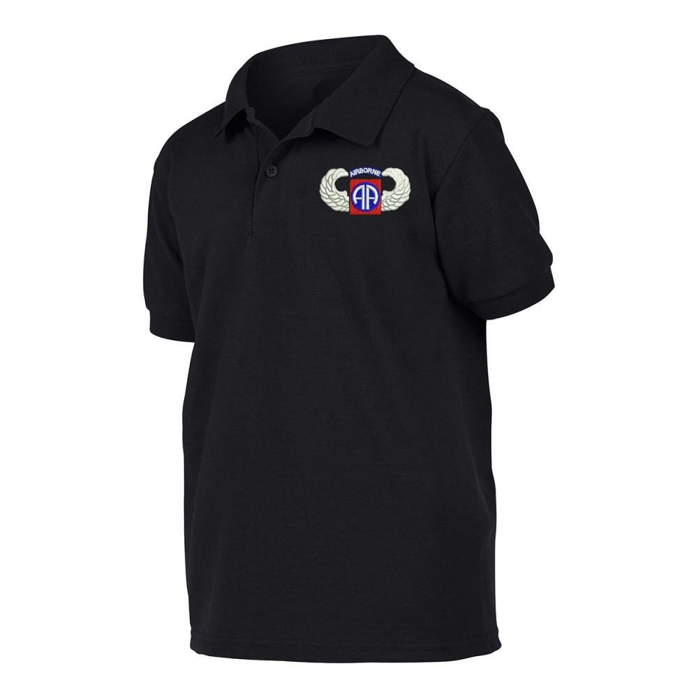 82 nd Airborne Wing Military Poloシャツ B07D8XM7RY  XXX-Large with Your Name Embroidered