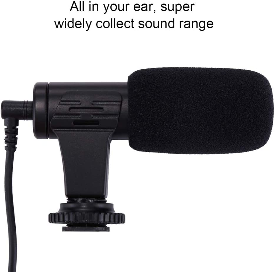 RONSHIN 3.5mm Audio Stereo Filmmaking Recoding Photography Interview Microphone for Vlogging Video DSLR /&DV