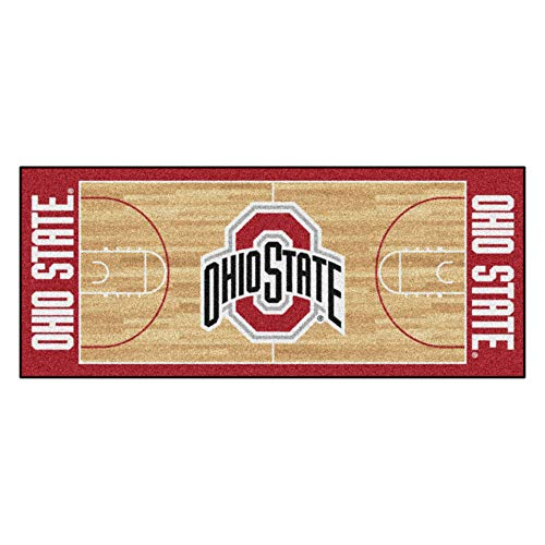 NCAA Ohio State University Buckeyes NCAA Basketball Non-Skid Mat Area Rug Runner ()