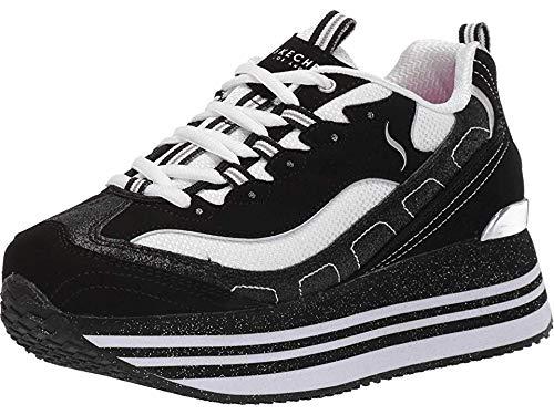 Skechers Street Highrise Delightfully High Womens Platform Sneaker Black/White 10
